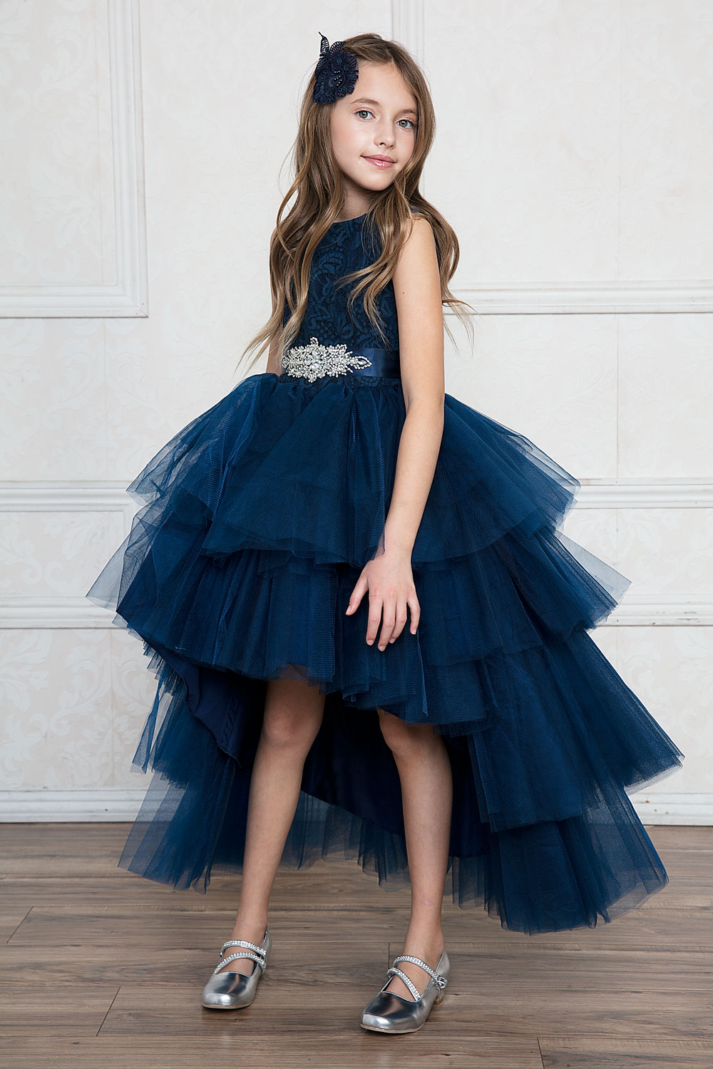 Robe De Ceremonie Fille Ado Bleu Marine Sofia S Dream